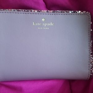 PINK KATE SPADE WALLET **GLITTER COLLECTION**